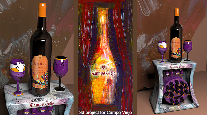 3d project for Campo Viejo